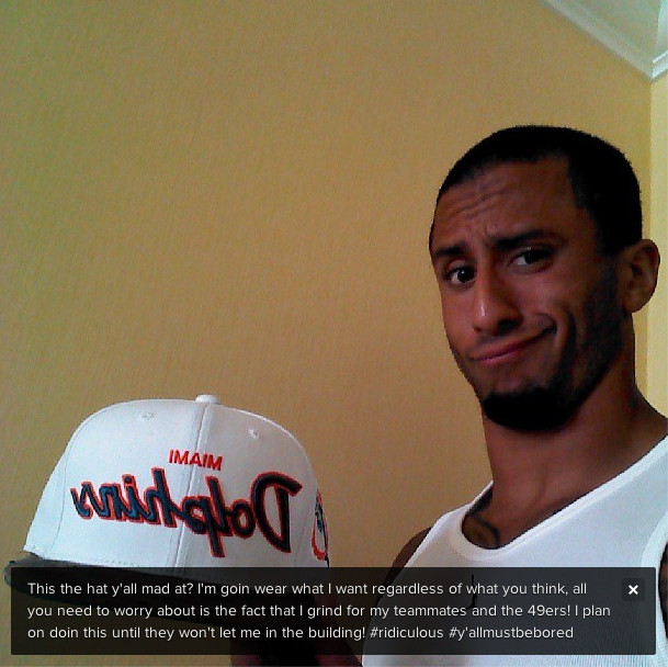 {Source: Kaepernick7 Instagram}