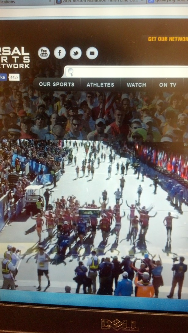 Team Hoyt's final finish at the Boston Marathon :-}